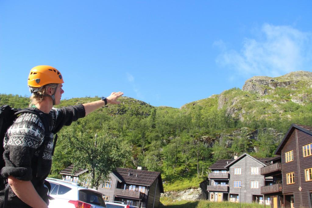 Anstieg Klettersteig Hemsedal. www.einfachmalraus.net