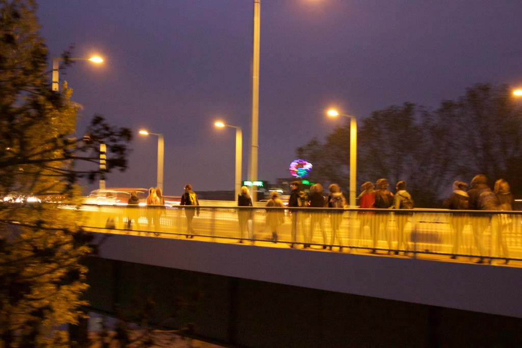 Die Gruppe auf der Zoobrücke, einfachmalraus.net