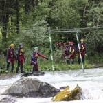 Streckenbesichtigung und Sicherheitsbesprechung mit der ganzen Gruppe an der Drau, www.einfachmalraus.net